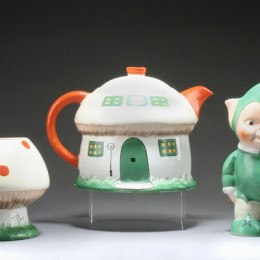 Shelley three piece Boo Boo nursery teaset designed by Mabel Lucie Attwell