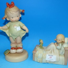 Mabel Lucie Attwell music box and a Mabel Lucie Attwell standing figure