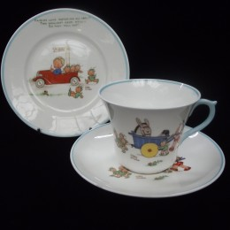 Mabel Lucie Attwell for Shelley , a matched nursery ware trio