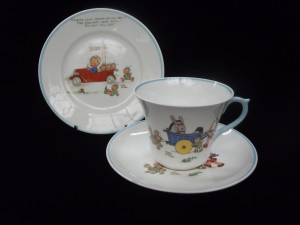 Mabel Lucie Attwell for Shelley matched nursery ware trio