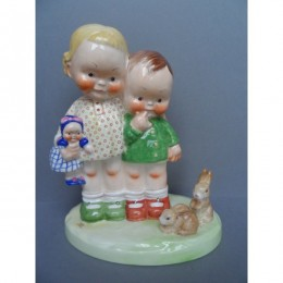 Shelley Mabel Lucie Attwell Our Pets LA19 figurine
