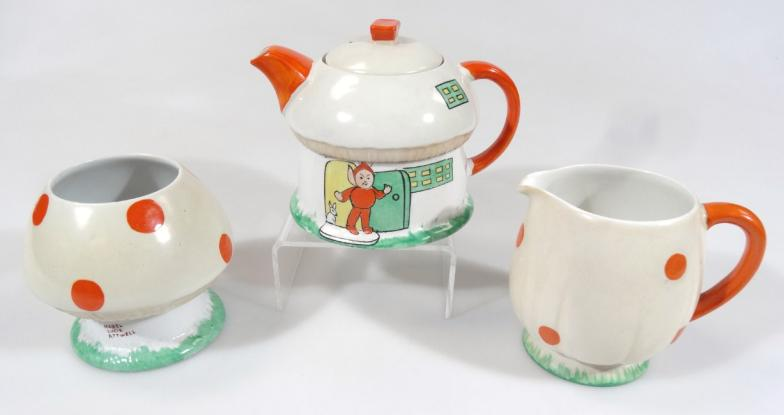 A Shelley Mabel Lucie Attwell Red Elf Imp part tea service