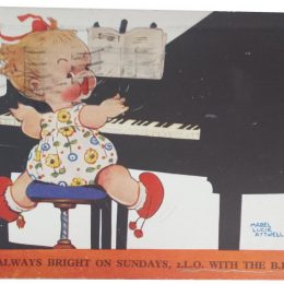 mabel lucie attwell postcard im always bright on sundays