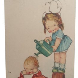 Now I expect he'll grow – Mabel Lucie Attwell Postcard