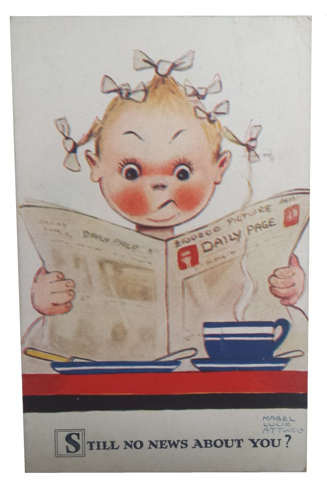 Still No News About You – Mabel Lucie Attwell Postcard