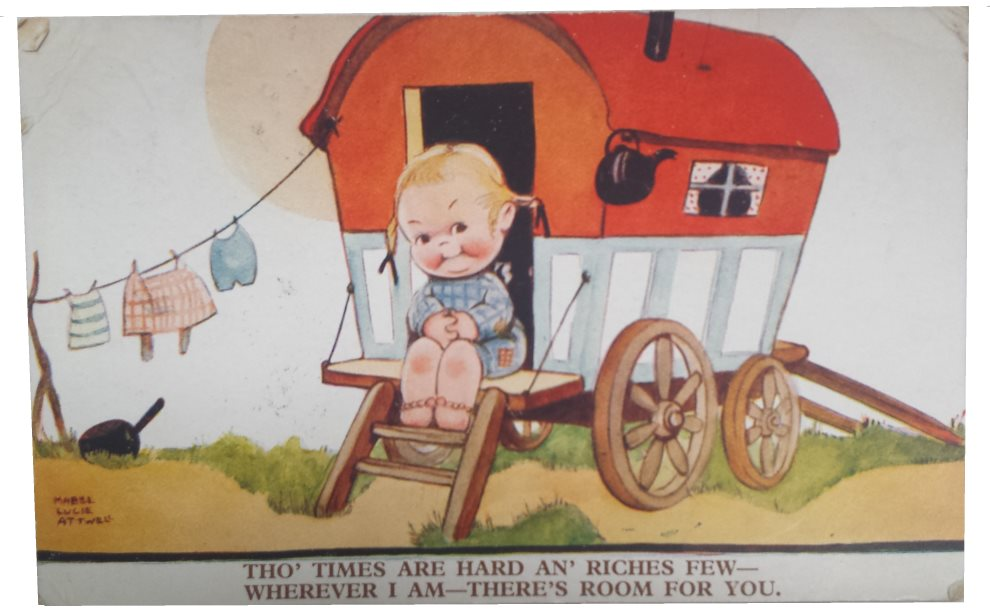 Tho Times Are Hard an Riches Few – Mabel Lucie Attwell Postcard