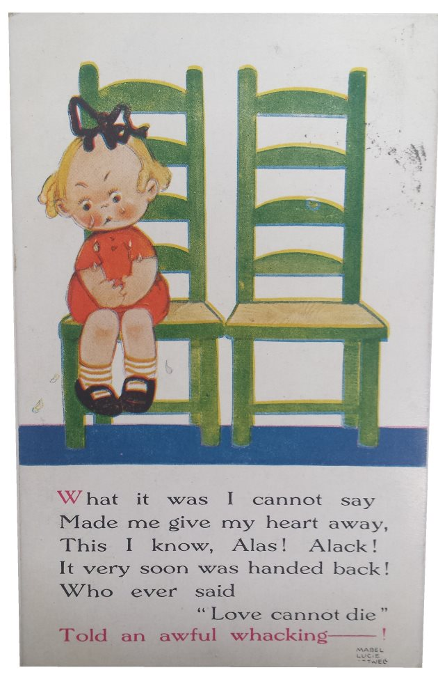 mabel lucie attwell postcard what is was i cannot say