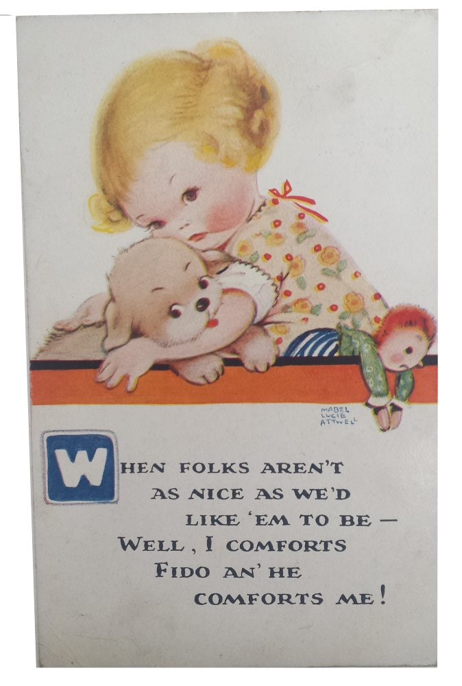 mabel lucie attwell postcard when folks arent as nice