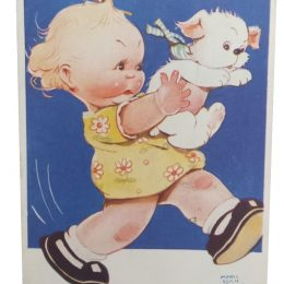 mabel lucie attwell postcard you cant do that there here