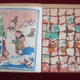 Lucie Attwell's Jigsaw Hankies