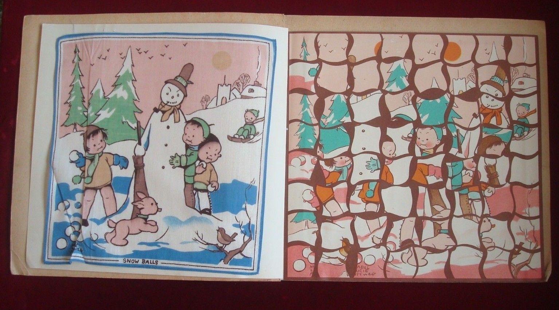 Lucie Attwells Jigsaw Hankies Puzzle 1 Snow Balls