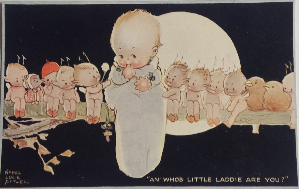 mabel lucie attwell an whos little laddie postcard