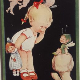 Scuse Me Do You Give Flying Lessons ? – Mabel Lucie Attwell Postcard