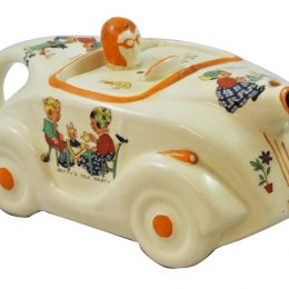 James Sadler Racing Teapot with Mabel Lucie Attwell designs